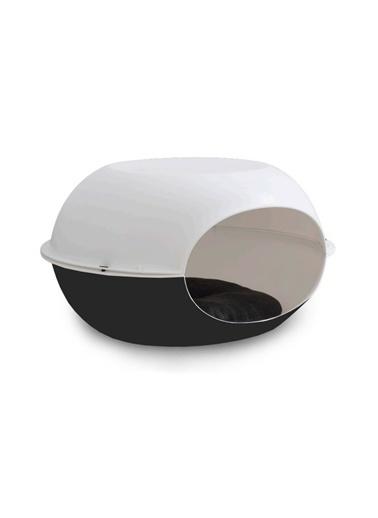 JBL Mp Luna Beyaz-Siyah Kedi Evi 57*38*31Cm Renkli